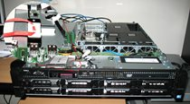 Dell Server with FXMC USB NNC installed internaly