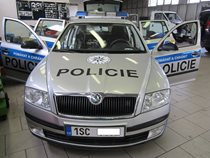Police patrol car with LOOK system built-in